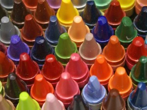 Crayon Tips, by Chris Metcalf